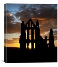 Whitby Abbey at dusk, Canvas Print