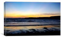 Sundown at Bigbury Bay, Canvas Print