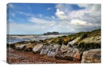 Hastings Seafront, Canvas Print