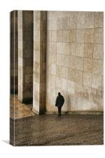 The Palais de Chaillot steps, Canvas Print