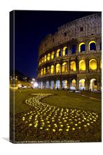 Colosseum at Night, Canvas Print