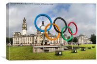 Cardiff Olympic Rings, Canvas Print