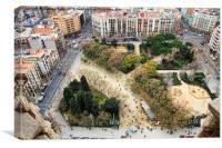 La Sagrada Família view, Canvas Print