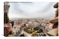 Barcelona Panorama 2, Canvas Print