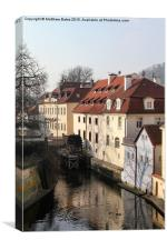Water Wheel in Prague, Canvas Print
