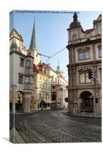 Prague City Streets, Canvas Print