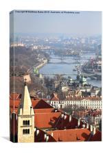 Bridges of Prague, Canvas Print
