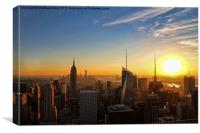 New York Sunset, Canvas Print