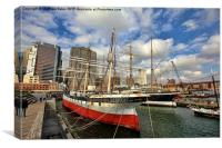 South Street Seaport, Canvas Print