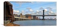 The Manhattan Bridge, Canvas Print