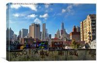 New York contrast, Canvas Print