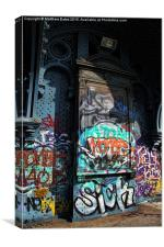 New York graffiti, Canvas Print