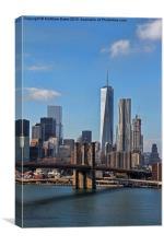 Downtown Manhattan , Canvas Print