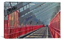 Williamsberg Bridge walkway, Canvas Print