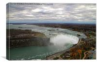 Horseshoe Falls from above, Canvas Print