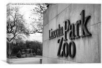 Lincoln Park Zoo Entrance, Canvas Print
