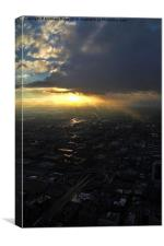 Chicago sunburst., Canvas Print