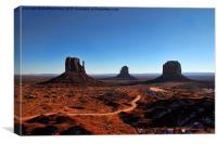 Monument Valley track, Canvas Print