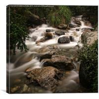 Andean Falls, Canvas Print