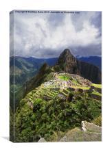 Postcard Machu Picchu, Canvas Print