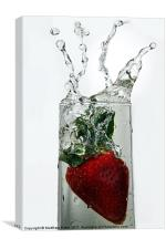 Strawberry Splash, Canvas Print