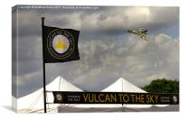 Vulcan Bomber, Canvas Print