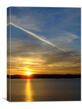 jet into the sun, Canvas Print