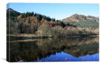 reflection on loch lubnaig, Canvas Print