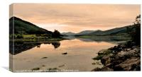 Loch Leven Sunset 2, Canvas Print