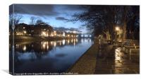 River Ouse York, Canvas Print