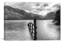 Brotherswater View b/w, Canvas Print