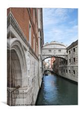 Bridge of Sighs 2, Canvas Print