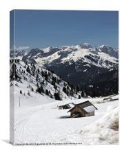 Dolomite Vista, Canvas Print