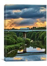 River Don Sunset, Canvas Print