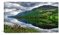 Loch Lochy Reflection 2, Canvas Print
