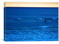 Sunset Surfers, Canvas Print