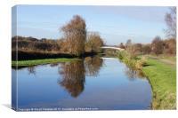 Lady Anne Bridge in Autumn, Canvas Print