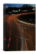 Roundabout Light Trails, Canvas Print