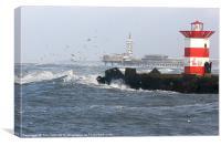 Dutch sea scen e, Canvas Print