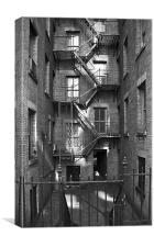 Tenement buildings I, Canvas Print