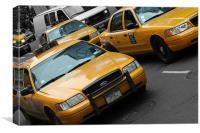 New York City: Yellow ants V, Canvas Print