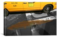 New York City: Yellow ants II, Canvas Print