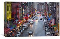 Chinatown New York, Canvas Print