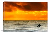 Waiting for the perfect wave, Canvas Print