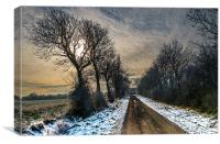 Its a long long road...., Canvas Print