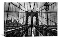 New York Brooklyn Bridge, Canvas Print