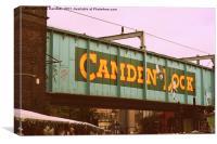 Camden Lock Bridge, Canvas Print
