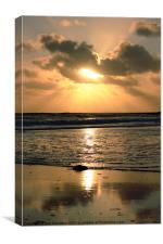 Bracelet Bay Swansea Gower Sunset, Canvas Print