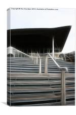 Senedd Steps Welsh Assembly, Canvas Print