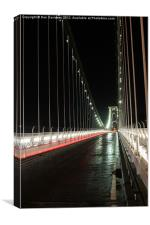 light trails on Clifton Bridge, Canvas Print
